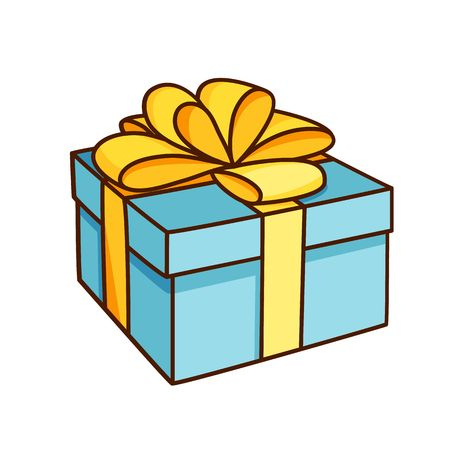 Doodle gift box with bow.