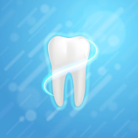 White molar tooth poster template. Illustration
