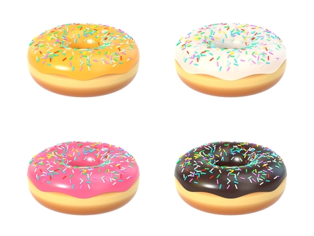 Delicious colorful donut set