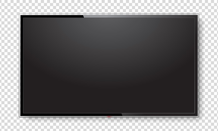 Realistic TV screen mock up 스톡 콘텐츠