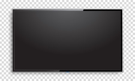 Realistic TV screen mock up 일러스트