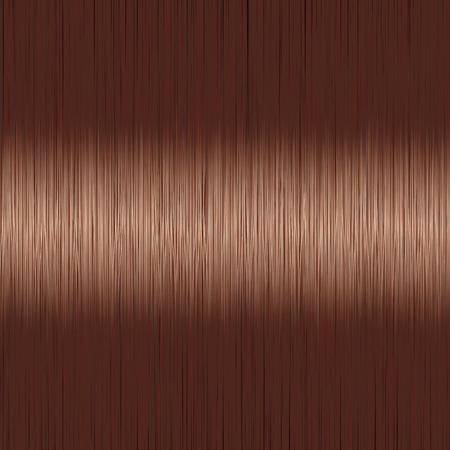 Fondo de pelo lacio morena marrón realista con detalle brillante brillante. Ilustración vectorial.