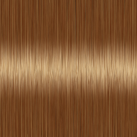 Realistic brown brunette straight hair texture with glossy shiny detail. Vector illustration.