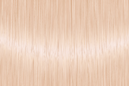 Realistic blond straight hair texture with glossy shiny detail. Vector illustration.