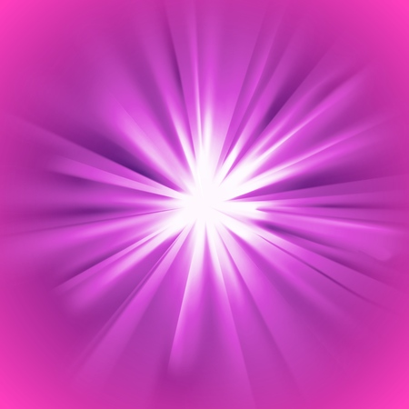 Glowing light violet burst with purple flare. Glaring effect with transparency. Vector illustration