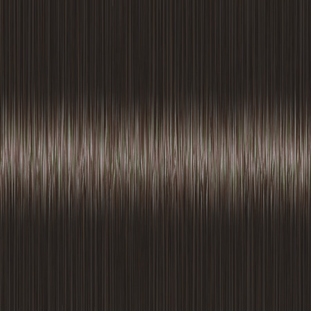 Realistic black brown straight hair texture with glossy shiny detail. Vector illustration.