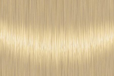 Textura de cabello lacio rubio realista con detalles brillantes y brillantes. Ilustración vectorial. Ilustración de vector