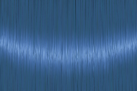 Realistic bright blue straight hair texture with glossy shiny detail. Vector illustration.