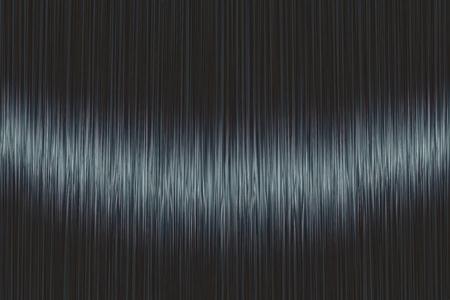 Textura de pelo lacio azul negro realista con detalles brillantes y brillantes. Ilustración vectorial.