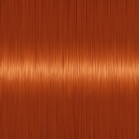 Realistic red ginger straight hair background with glossy shiny detail. Vector illustration. Illustration