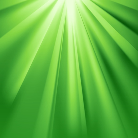Green rays flare with glaring effect and transparency. Vector illustration