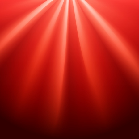 Red rays flare on black background with glaring effect and transparency. Vector illustration 向量圖像