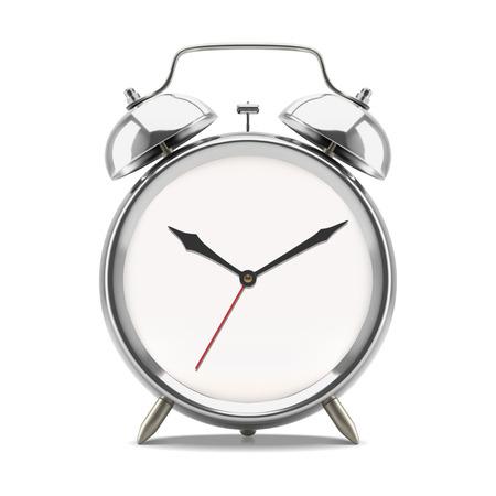 Ringing alarm clock showing 10 oclock morning or evening, isolated on white background. Vector illustration Stock Photo