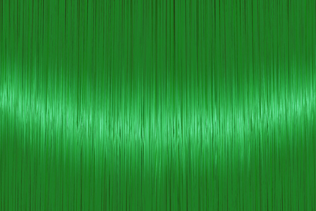 Realistic bright green straight hair texture with glossy shiny detail. Vector illustration.