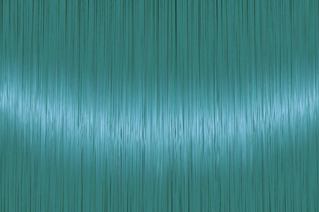 Realistic teal blue straight hair texture with glossy shiny detail. Vector illustration.