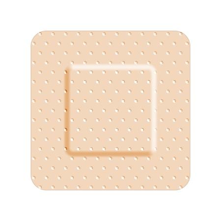 Beige adhesive bandage bandaid, medical and healthcare. Vector illustration isolated on white background