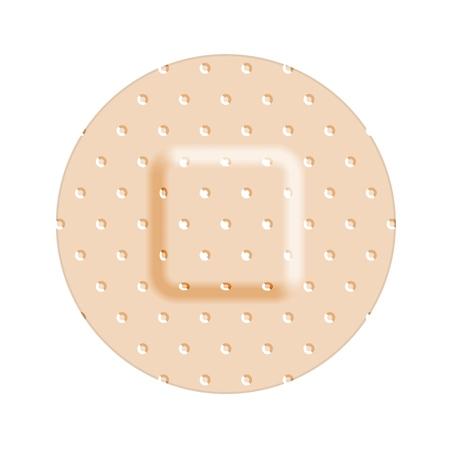 Beige adhesive bandage bandaid, medical and healthcare. Vector illustration isolated on white background Standard-Bild - 122706165