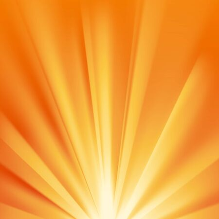 Yellow sun rays with warm orange flare. Abstract glaring effect with transparency. Vector illustration