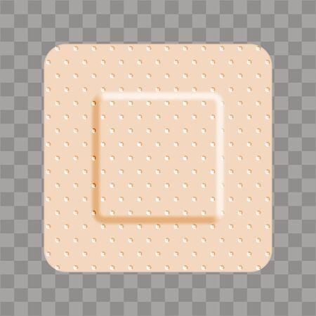 Beige adhesive bandage bandaid square shape