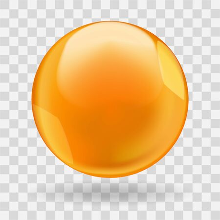 Golden glossy oil bubble ball or round drop