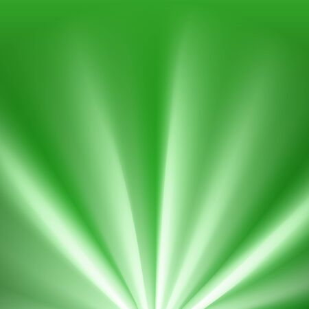 Green colored rays with color spectrum flare. Abstract glaring effect with transparency. Vector illustration