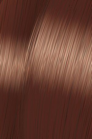 Realistic golden brown brunette hair texture with glossy shiny detail. Vector illustration.