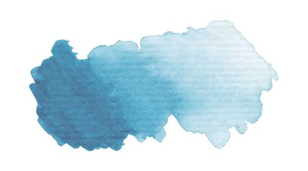 Hand painted watercolor banner with gradient wash. Vector illustration isolated on white background Ilustração