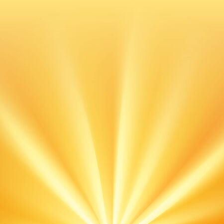 Yellow sun rays with warm orange flare Vectores