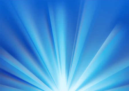 Blue colored rays with color spectrum flare