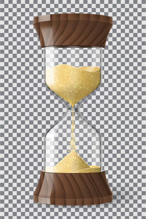 Realistic hourglass clock with transparency 矢量图像