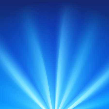 Blue colored rays with color spectrum flare. Abstract glaring effect with transparency. Vector illustration