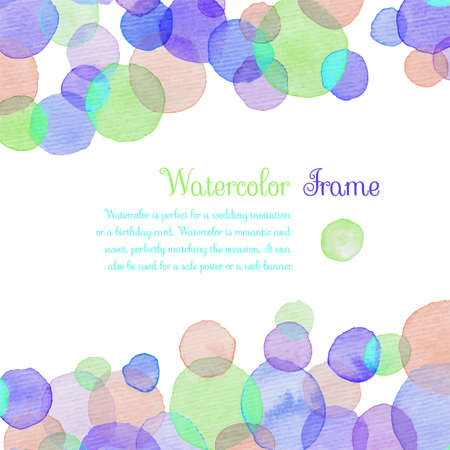 Watercolor banners greeting cards with colorful circle banners