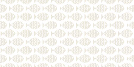 Nautical seamless pattern with swimming cartoon fish. Vector illustration