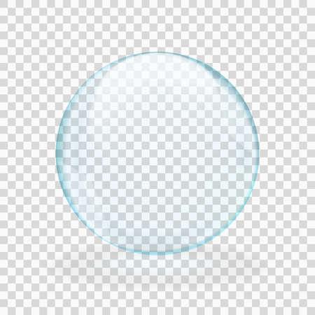Blue translucent light sphere with glares and transparency Vektorgrafik