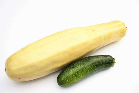 On a photo a vegetable marrow. The photo is isolated Banco de Imagens