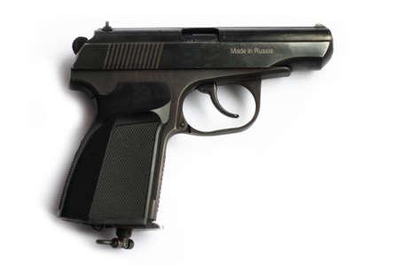 gun on white background Stock Photo