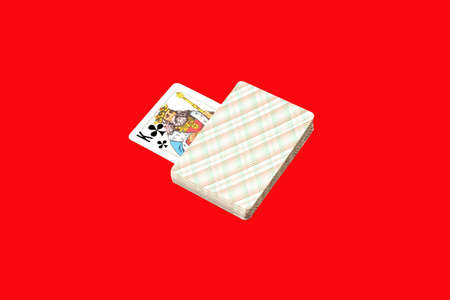 playing cards on red background Banco de Imagens - 2752522