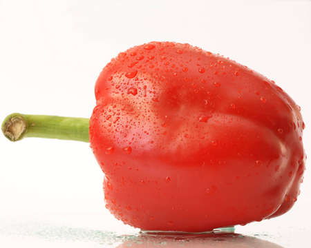 Red pepper on a white background photo