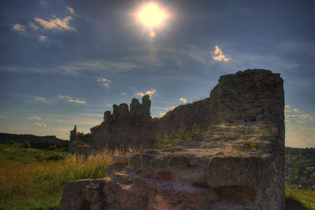 siege: The old-time ruins to fortresses. The Ukraine. Kremenec.