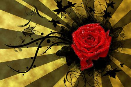 saint valentines: Rosa per San Valentino's Day