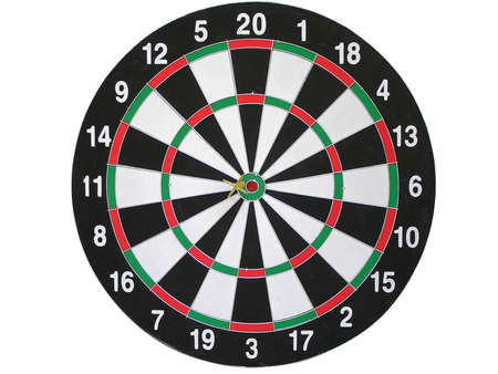 On a photo game of a darts.