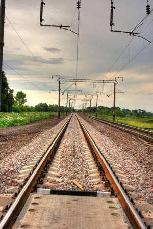 onward: De v�as de ferrocarril, que ahora en adelante Foto de archivo