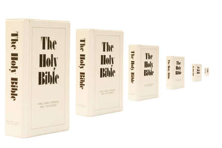on photo Bibles isolated  on whote background Stock Photo - 3689035
