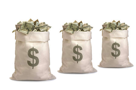 Money Bags isolated on whote background