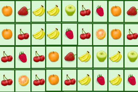 Background from different fruit photo