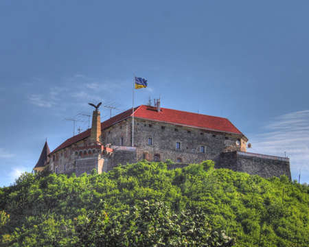 Castles of Ukraine.Castle of Palanok. Mukachevo Stock Photo