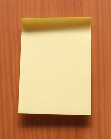 On a photo yellow sheet for notes Stock Photo - 4897434