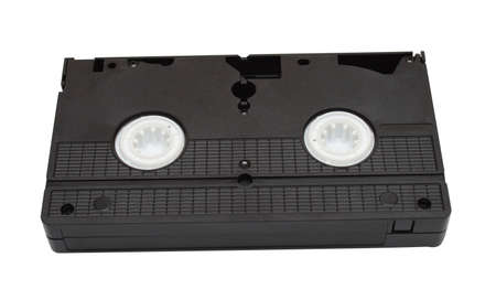 video cassette isolated on white background photo