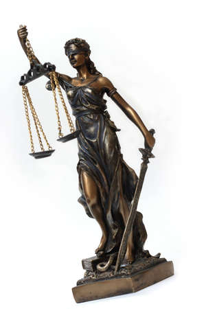 Themis on a white background. The symbol of justice