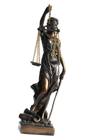 allegorical:   Lady Justice, Justitia, Femida, the Roman Goddess of Justice, allegorical personification of the moral force in judicial systems, struggle of the law against a crime